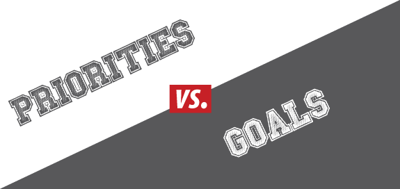 Priorities vs. Goals – What's the Difference?