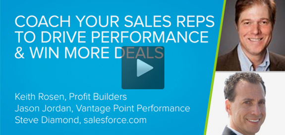 Coaching Salespeople to Win More Sales! Salesforce.com Live Webcast Recording