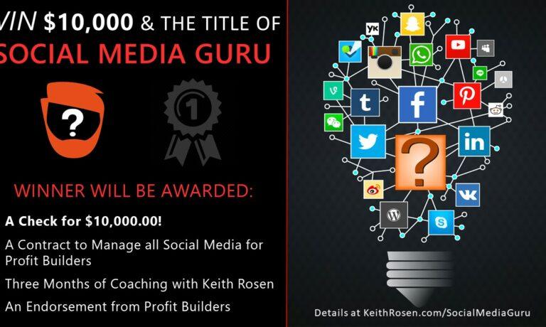 WIN $10,000.00 and the Title of Social Media Guru!